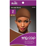 Ms Remi Brown Wig Stocking Cap,Pack of 2 EA