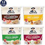Quaker Instant Oatmeal Cups Variety Pack - 12 pack, 1.68 oz cups