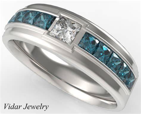 Princess Cut Diamond wedding Ring For A Men   Vidar