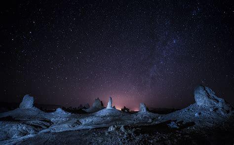 stars night landscape wallpapers hd desktop  mobile