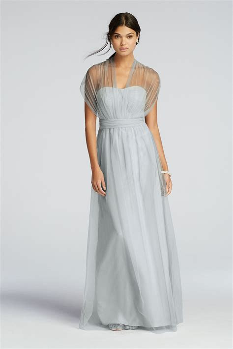 Long Tulle Convertible Versa Bridesmaid Dress F19114