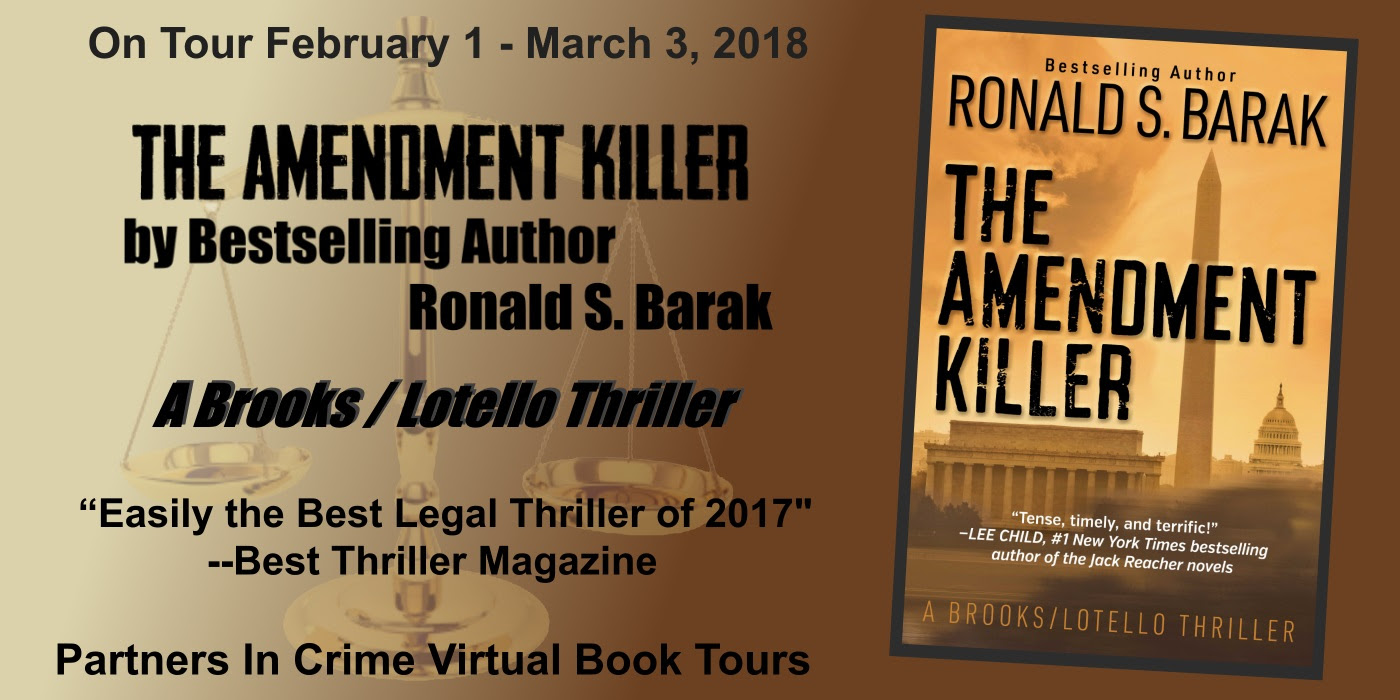 The Amendment Killer by Ronald S. Barak Tour Banner