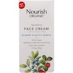 Nourish Organic Face Cream,Age Defense, Bilberry & Arctic Berries - 1.7 fl oz
