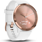 Garmin Vivomove HR Sport Smart Watch with Heart Rate Monitor - S/M - Rose Gold/White