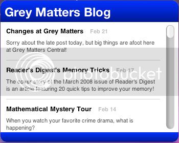 Grey Matters Feed Widget