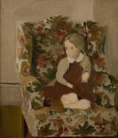 poboh:   Portrait of Katherine Porter (the artist's daughter), Fairfield Porter. American (1907 - 1975)