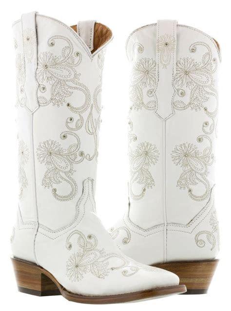 Womens I'Do White Wedding Bridal Western Cowboy Cowgirl