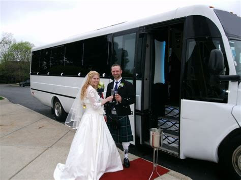 Party Bus Weddings Transfer   Limo Bus Wedding Day