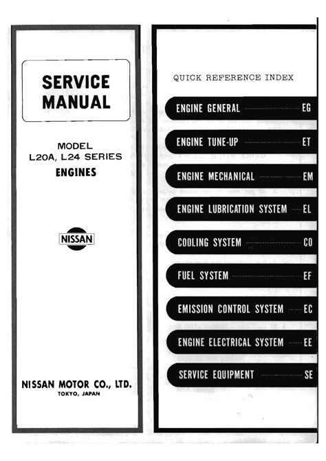 L Series Petrol Engine Service Manual | MQ-Patrol.com