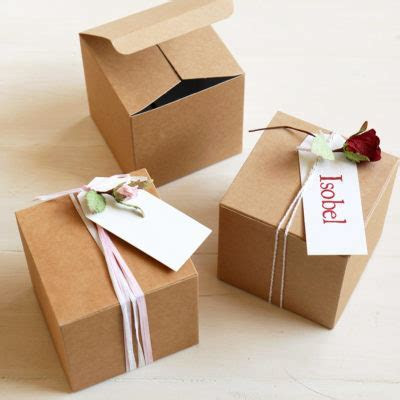 Small Kraft Favour Box for Gifts & Favours, 10cm square