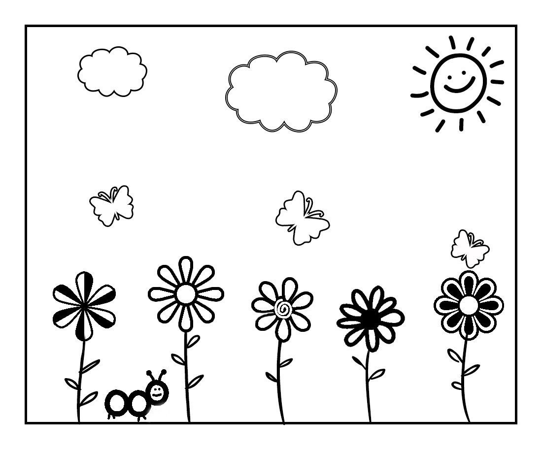 Color the Spring Away! Spring Coloring Page to Celebrate ...