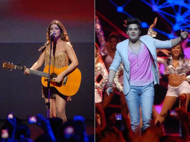 Paula Fernandes e Luan Santana levam romantismo para o palco (Foto: Divulgação)