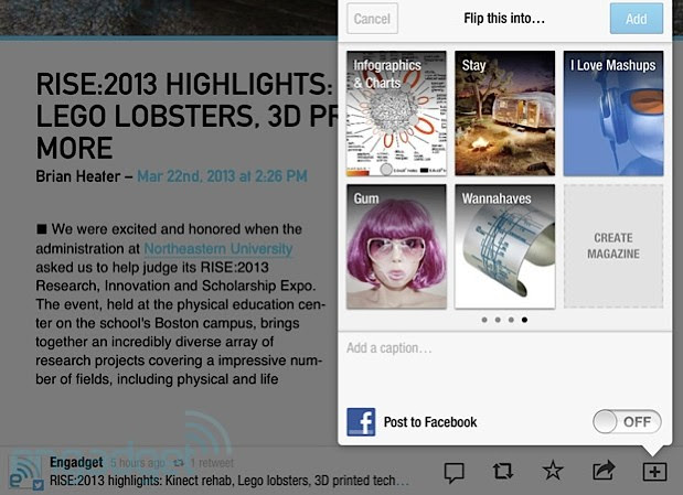 Flipboard launches usercreated magazines, partners with Etsy video