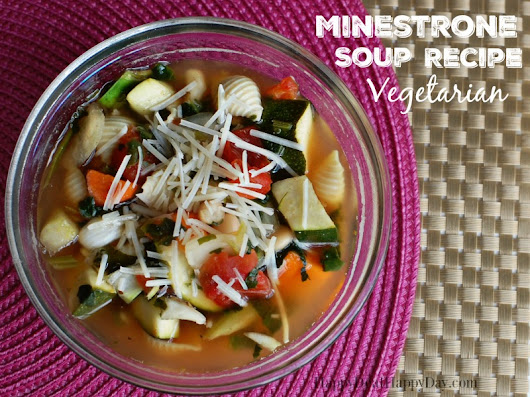 Easy Minestrone Soup Recipe | Happy Deal - Happy Day!