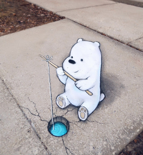 On today's program…Ice fishing with Ice Bear! 🎣