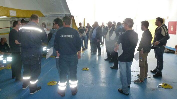 Από την απεργία των ναυτεργατών