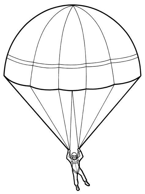 Parachute Drawing at GetDrawings.com | Free for personal
