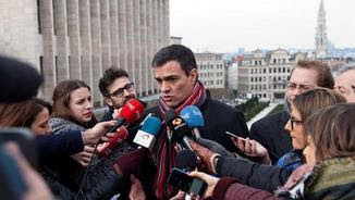 Pedro Sánchez, aquest dijous a Brussel·les (EFE)