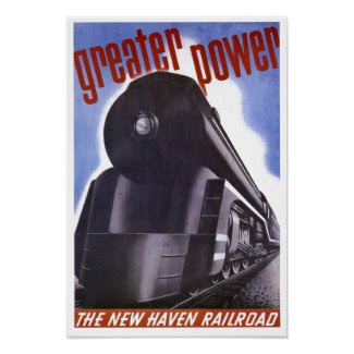 New Haven Railroad Greater Power 1938 Poster