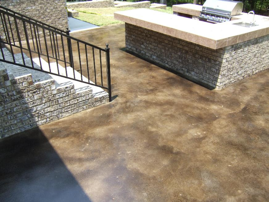 Acid Staining Concrete Not Just For Interior Floors
