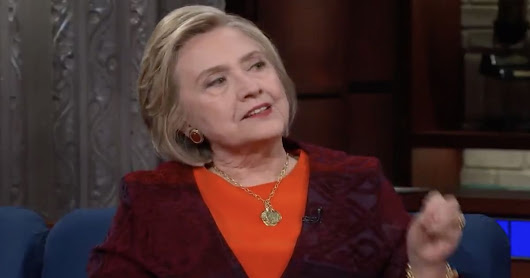 Hillary Reassures Colbert About President Indictment Issue