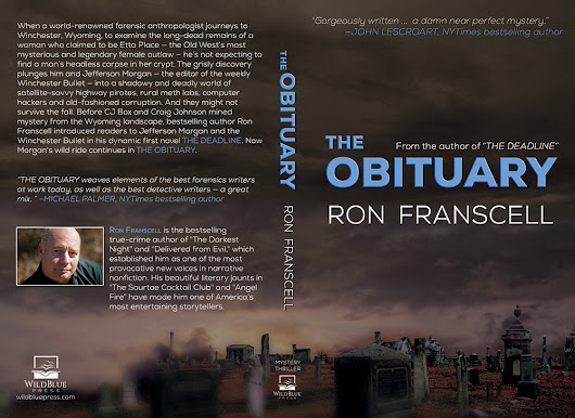 Vote For A Book Cover For Ron Franscell's New Crime Fiction Sequel THE OBITUARY - WildBlue Press