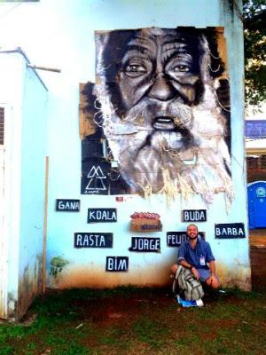 Artista pintou morador de rua conhecido em São Carlos (Foto: Alfredo Maffei/Arquivo Pessoal)