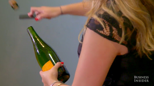 Video: Saber a bottle of champagne with an iPhone... because why not?