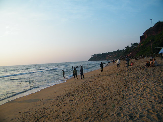 A view of cliff and beach, Varkala, Kerala