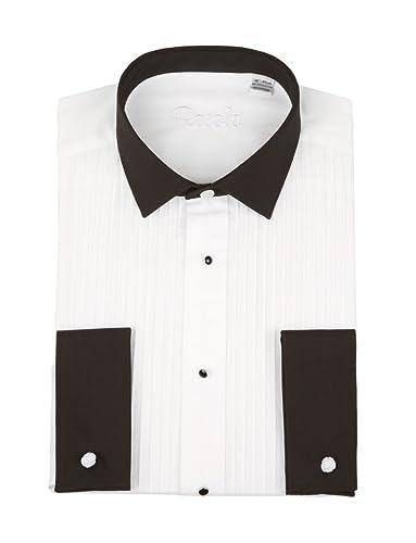 Black evening dress shirt
