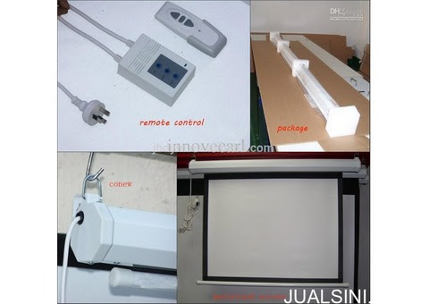 jual screenprojector motorized - Jualsini.com
