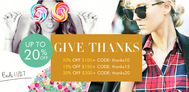PersunMall coupon codes for Thanksgiving Day