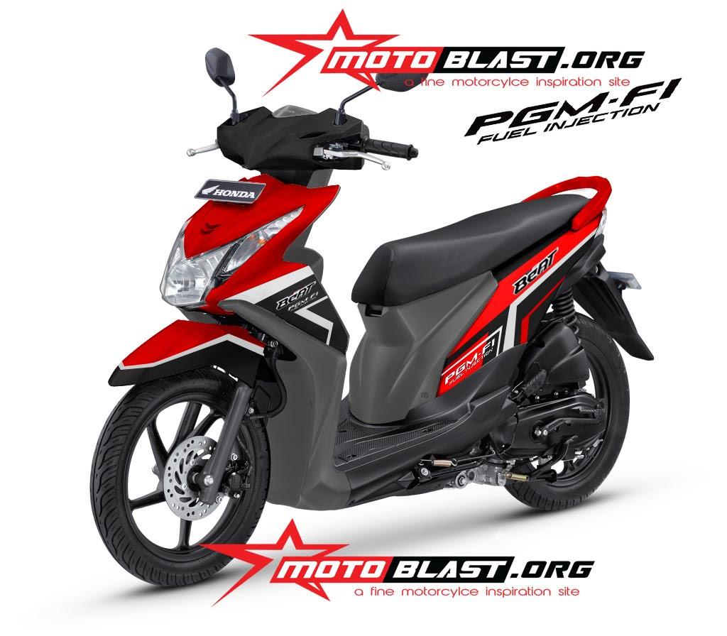 Modif Striping Honda Beat 2013 Black MOTOBLAST