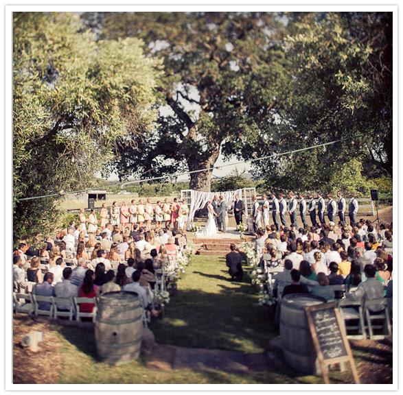 outdoor ranch wedding