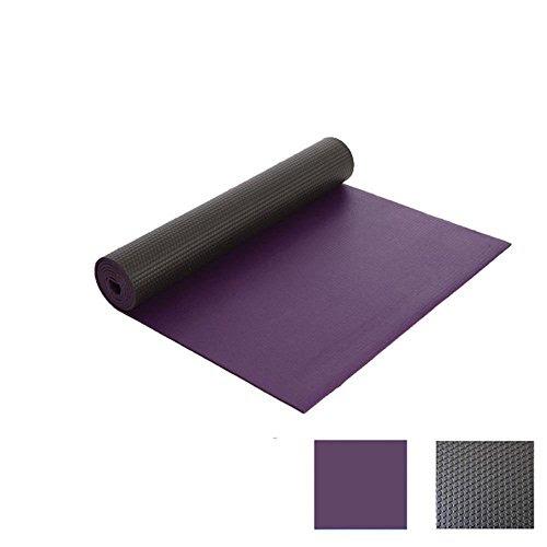 Yoga mat aerobics fitness density padded non-slip mats ( Color : Deep Purple )