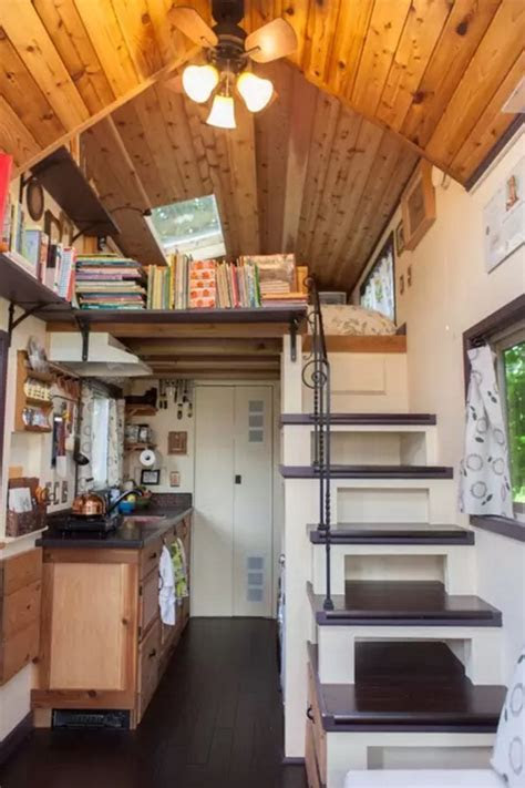 woman designsbuilds   pocket mansion tiny house