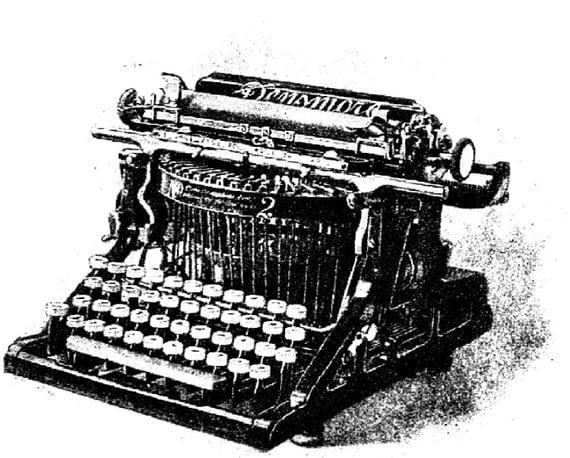 Vintage typewriter rubber stamp WM 2.5x1.7 inches
