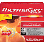 Thermacare Neck Pain Therapy Heat Wraps - 3 count