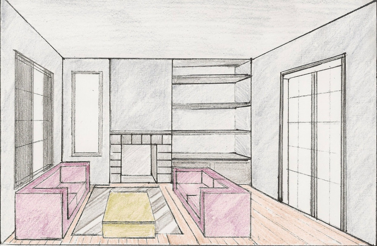 Living Room Perspective Drawing At Getdrawingscom Free For