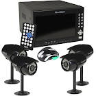 First Alert HS-4700-S 4-Channel 320GB DVR Wired Security Systemw/Built-in 7 LCD