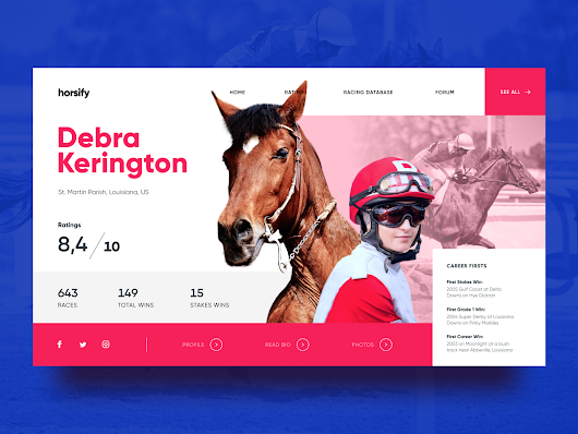 Horse Racing Website Design