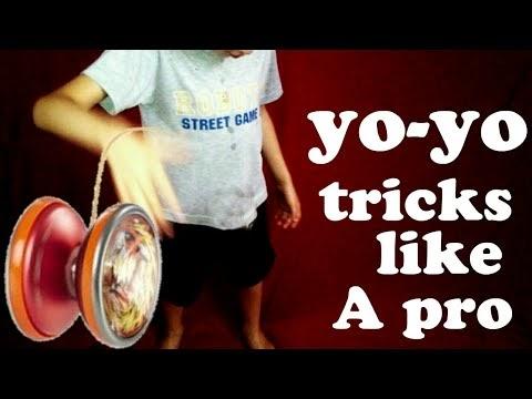 The yo-yo tricks,try to be pro!!