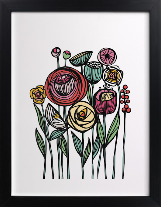 Lisboa Floral Wall Art Prints by Gill Eggleston | Minted