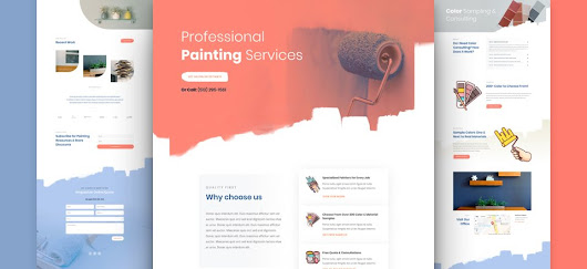 Get a FREE Painting Service Layout Pack for Divi