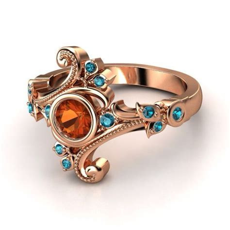 Izyaschnye wedding rings: Mexican fire opal wedding ring