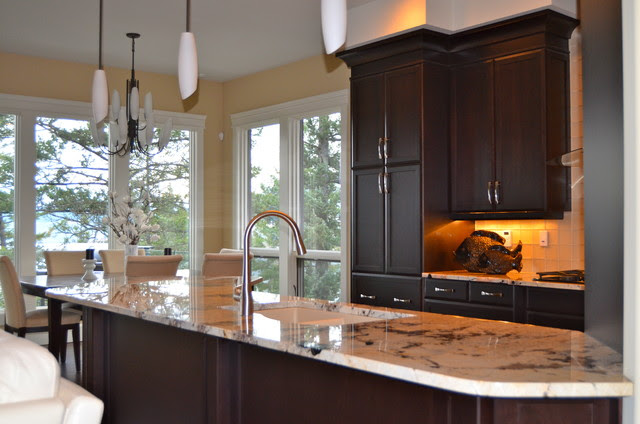 New Custom Maple Cabinets...dark stain - Traditional ...
