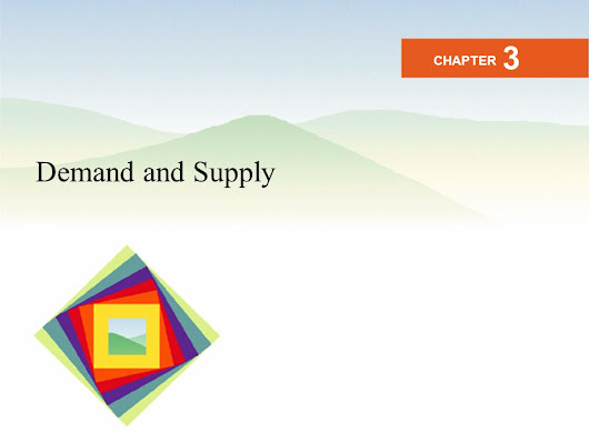 Demand and Supply CHAPTER 3