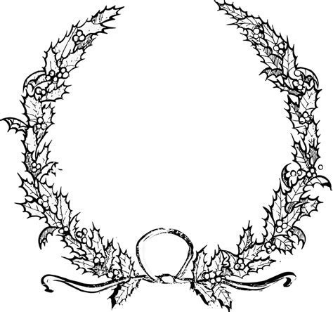 Holly Christmas Wreath · Free vector graphic on Pixabay