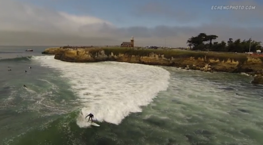 Drone Takes Striking Footage of Santa Cruz from Above