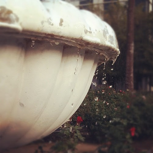 Water fountain.